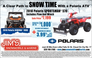 A Clear Path in Snow Time with a Polaris ATV