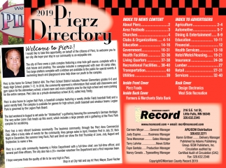 2019 Pierz Directory