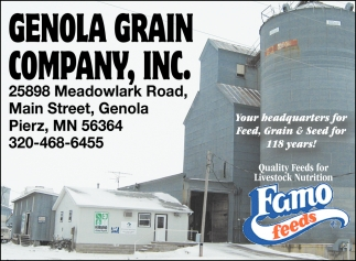 Your Headquarters for Feed, Grain & Seed for 118 Years!
