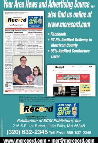 Your Area News and Advertising Source...