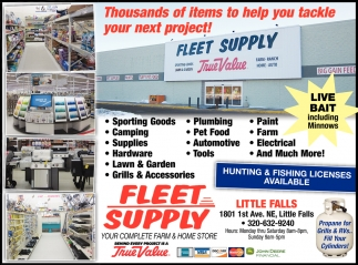 Hunting & Fishing Licenses Available, Fleet Supply - Little