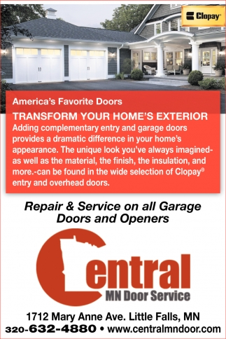 Repair & Service on All Garage Doors and Openers
