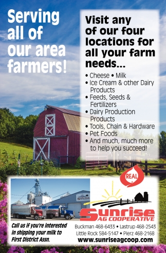 Serving All of Our Area Farmers!