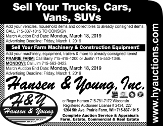 Sell Your Trucks, Cars, Vans, SUVs