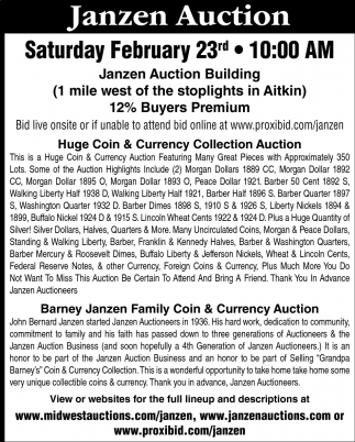 Huge Coin & Currency Collection Auction