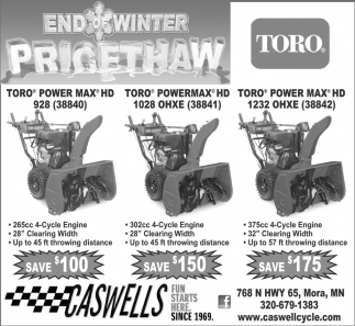 End of Winter Pricethaw