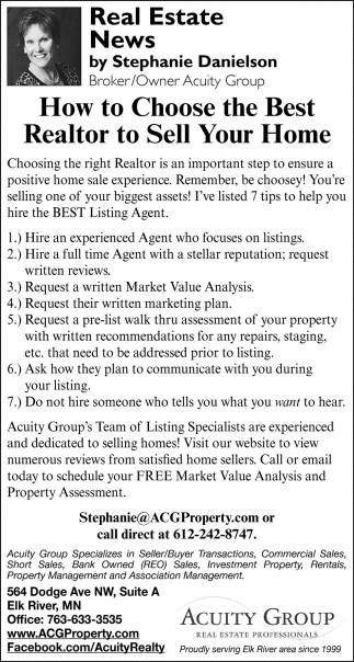 How to Choose the Best Realtor to Sell Your Home