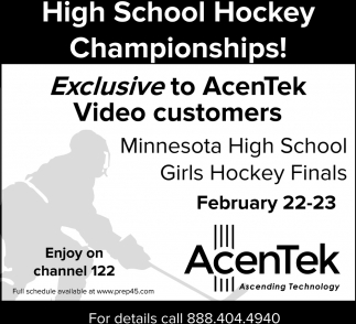 High School Hockey Championships!
