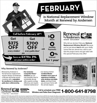 February is National Replacement Window Month at Renewal by Andersen