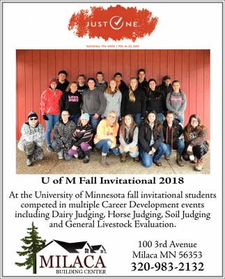 U of M Fall Invitational 2018