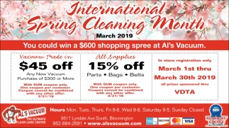 International Spring Cleaning Month