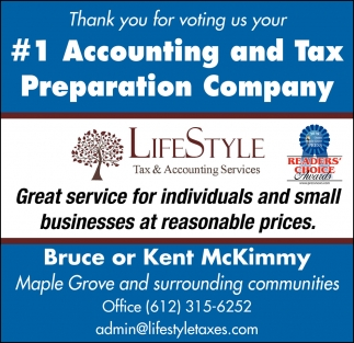Thank You for Voting Us Your #1 Accounting and Tax Preparation Company