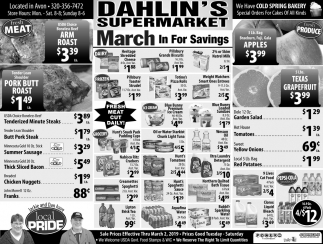 March in for Savings