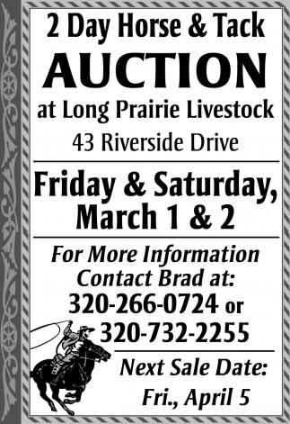 2 Day Horse & Tack Auction