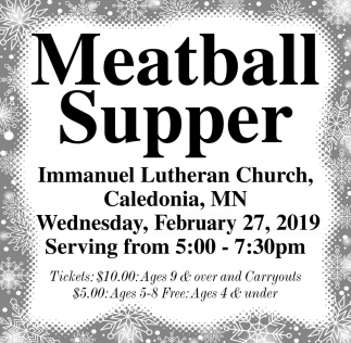 Meatball Supper