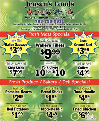 Fresh Meat Specials!
