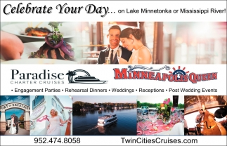 Celebrate Your Day... On Lake Minnetonka or Mississippi River