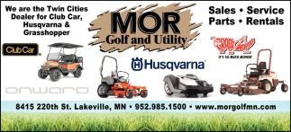 We are the Twin Cities Dealer for Club Car, Husqvarna & Grasshopper