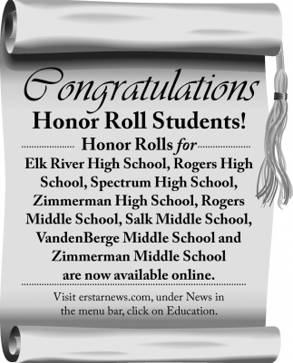 Congratulations Honor Roll Students!