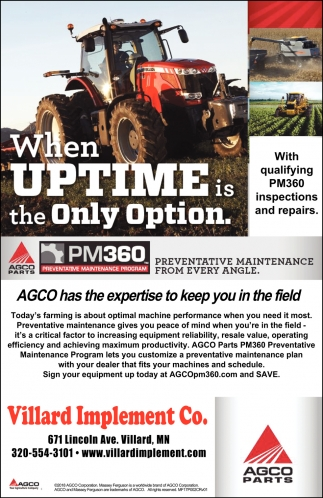 AGCO Has the Expertise to Keep You in the Field