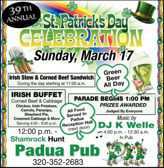 39th Annual St. Patrick's Day Celebration