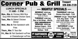 Lunch Special & Nightly Specials