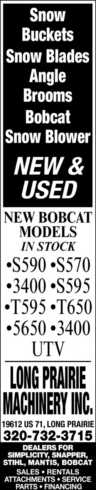 New Bobcat Models in Stock