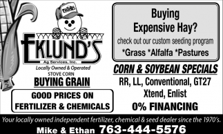 Corn & Soybean Specials