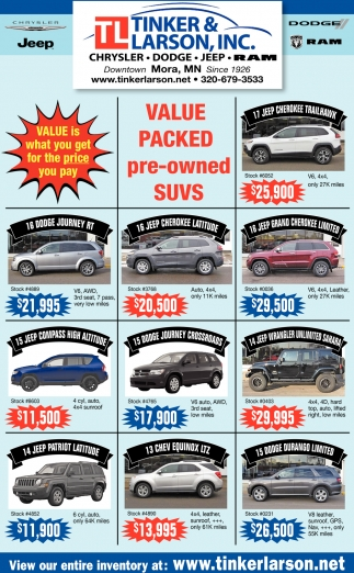Value Packed Pre-Owned SUVs