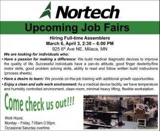 Upcoming Job Fairs