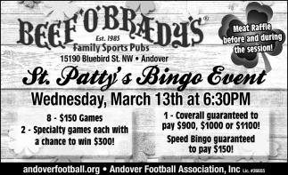 St. Patty's Bingo Event