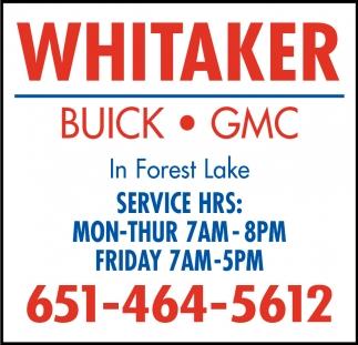 Whitaker Buick Gmc