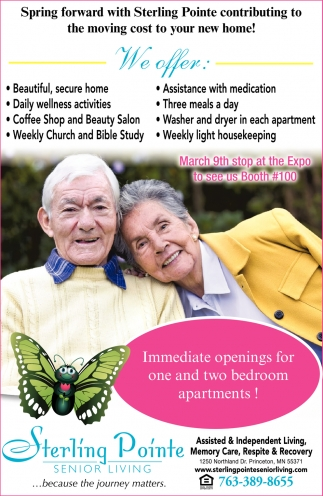 Immediate Openings for One and Two Bedroom Apartments!