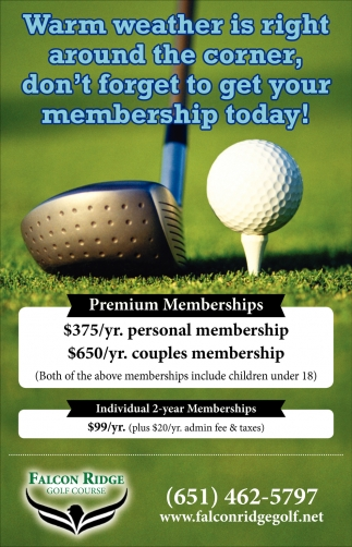 Warm Weather is Right Around the Corner, Don't Forget to Get Your Membership Today!