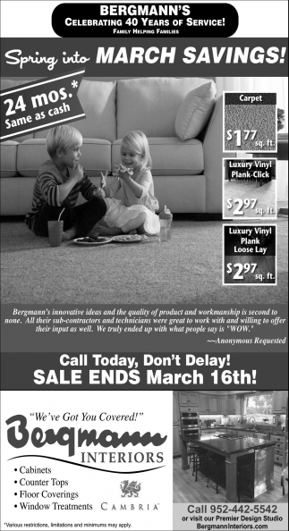 Spring Into March Savings!