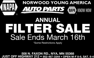 Annual Filter Sale