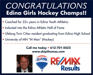 Congratulations Edina Girls Hockey Champs!