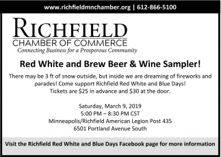 Red White and Brew Beer & Wine Sampler!