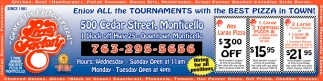 Enjoy All the Tournaments with the Best Pizza in Town!