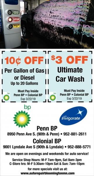 $3 OFF Ultimate Car Wash
