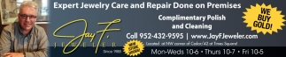 Expert Jewelry Care and Repair Done on Premises