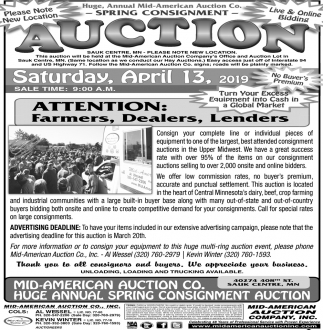 Spring Consignment Auction
