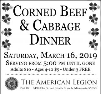 Corned Beef & Cabagge Dinner