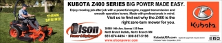 Kubota Z400 Series Big Power Made Easy