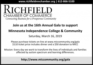 Join Us at the 16th Annual Gala to Support Minnesota Independence College & Community