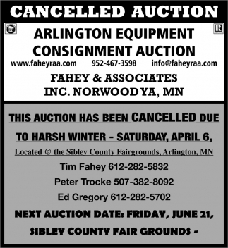 Cancelled Auction