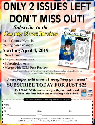 Subscribe to the County News Review