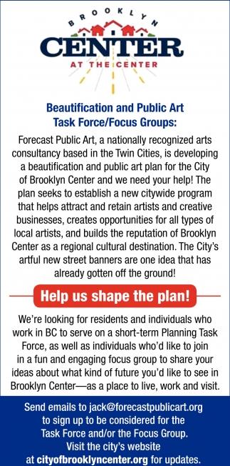 Help Us Shape the Plan!
