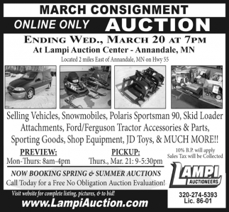 March Consignment Online Only Auction