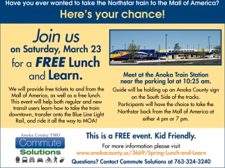 Join Us On Saturday, MArch 23 for a FREE Lunch & Learn